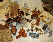 Destash Dollhouse/Miniature Large Lot 118