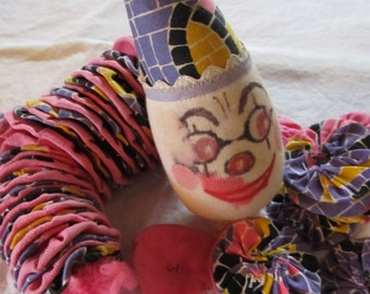 vintage YOYO CLOWN DOLL --unfinished--  you finish (1970s)