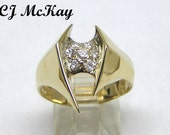 14K Contemporary Ladies Diamond Cluster Ring CR41K