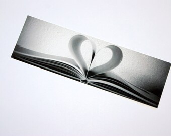 SALE - Heart is an Open Book  Photo Bookmark