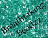 Swarovski Beads Crystal Bead 50 Blue Zircon 4mm Bicone 5328 Many Colors In Stock