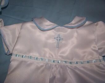 Handmade 3 piece boys christening outfit
