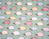 Hedgehog Print Japanese fabric fat quarter nc41
