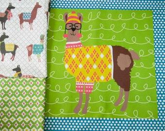 Pillow Panel and FQ SET - Preppy Llama