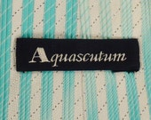 Designer AQUASCUTUM Neck TIE SILK Brocade Stripes Design 1980s Dead Stock  60X3.5in