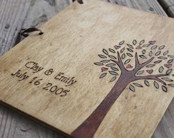 Custom Wedding Guest Book - Love Tree rustic wedding guest book wedding sign in book shower book wedding memory book wedding reception book