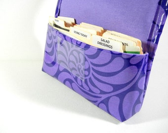 Waterproof Coupon Organizer Purple Swirls
