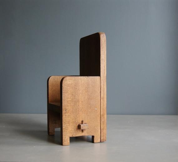 Vintage Miniature Wood Chair, Mid Century Modern Decor, Scandinavian Design