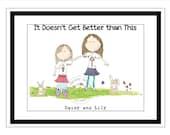 DEPOSIT Best Friends- 9 x 14  Illustration