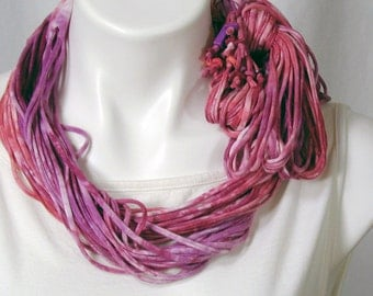 The Soba Scarf in Grape and Cherry Soda