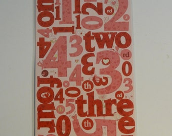 CLOUD 9 DESIGN Cardstock Number Stickers - be loved valentines day