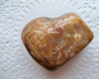 LUSCIOUS CARAMEL HEART Rock/Valentine Gift/One Half Pound of Fudgy Rock Love/Christmas Gift