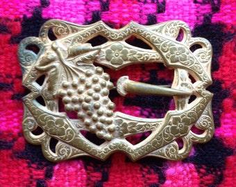 Antique Victorian Art Nouveau Brass Sash Pin
