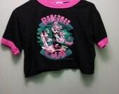 minnie mouse bikini club cropped t-shirt
