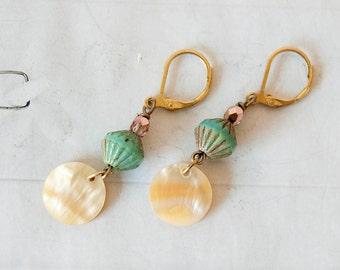 Sea breeze - beach inspired earrings