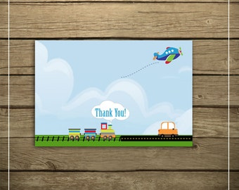 INSTANT DOWNLOAD - Planes, Trains and Automobiles - Thank You