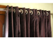 "Pair of Deep Plum Silk Curtain Panels 26""x84"" Grommet Drapes Home And Living Bedroom Decor And Housewares Valance Window Treatments Blackout"