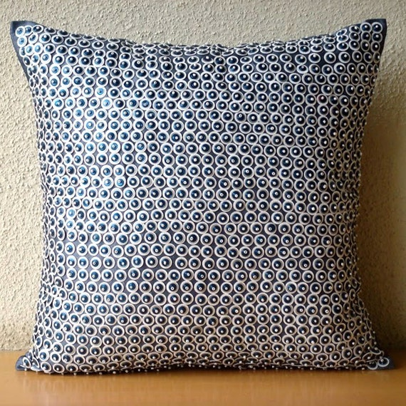 Silk Decorative Pillow Covers : Throw Pillow Covers 16x16 Silk Accent Pillows by TheHomeCentric
