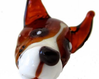 KNOBS - Handmade Glass Knob - Woof Woof- Puppy Dog Knob for Kitchen, Bath, Kibble Jar - I Will Replicate Your Puppy in Glass