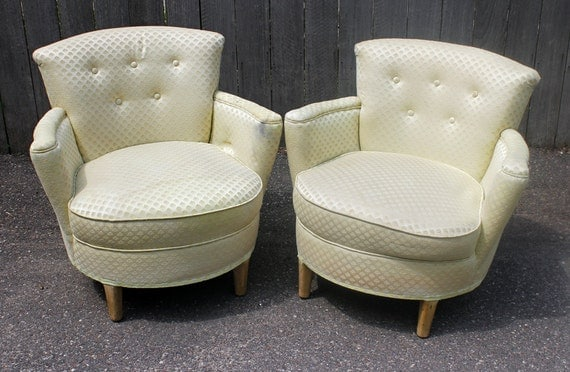 vintage round club chairs custom order design your own reserved for