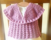 Knitting Pattern Sweater Jumper for Baby & Child -  Angelique a Top Down Seamless Lacy Sweater - 6 Sizes Newborn - 7 yrs