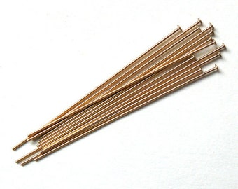 Headpins, Gold Filled, 1-1/2 Inch, 22 Gauge, Findings, Wire, Gold,
