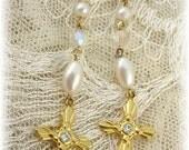 Dangle Cross Earrings