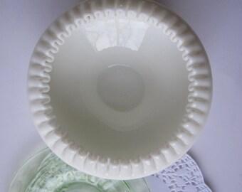 Vintage Fenton Milk Glass Hobnail Cupped Bowl