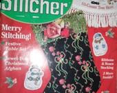 the Cross Stitcher - 1988 - with 24 Cross Stitch Cross sticher instructioners