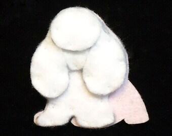 TOY POODLE Felt Dog Shape for Bead Embroidery, Making Beaded Animals, Crafting, or Embellishment