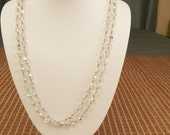 SALE WAS 80 Beautiful Vintage Crystal Bead Necklace