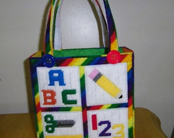 Teacher Tote Bag PATTERN ONLY