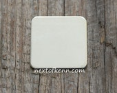 4 Pack of 1/2in x 18g Sterling Silver Rounded Squares - Great for creating personalized hand stamped jewelry