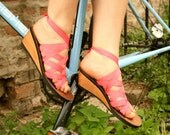 Moped Mid Wedge Slide Sandal by Mohop | Handmade Vegan Shoes with 5 Interchangeable Ribbons