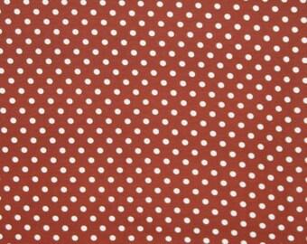 Knit Chocolate brown dots 1 yard lycra cotton