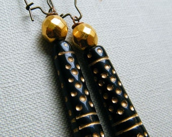 Indian State of Mind -  Vintage Inspired Long Earrings