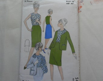 1950s/1960s  Sewing Pattern - Suit - unused - Maudella 5408