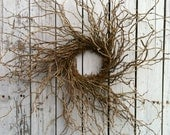 Curly Willow Twig Wreath, Corkscrew Willow Wreath, Natural Branch Wreath, Twig Wreath