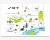 Map of Montréal Print