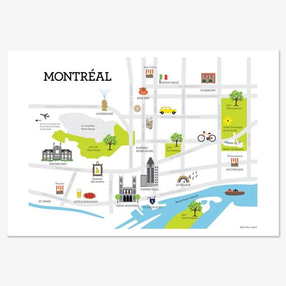 Montréal Map Print