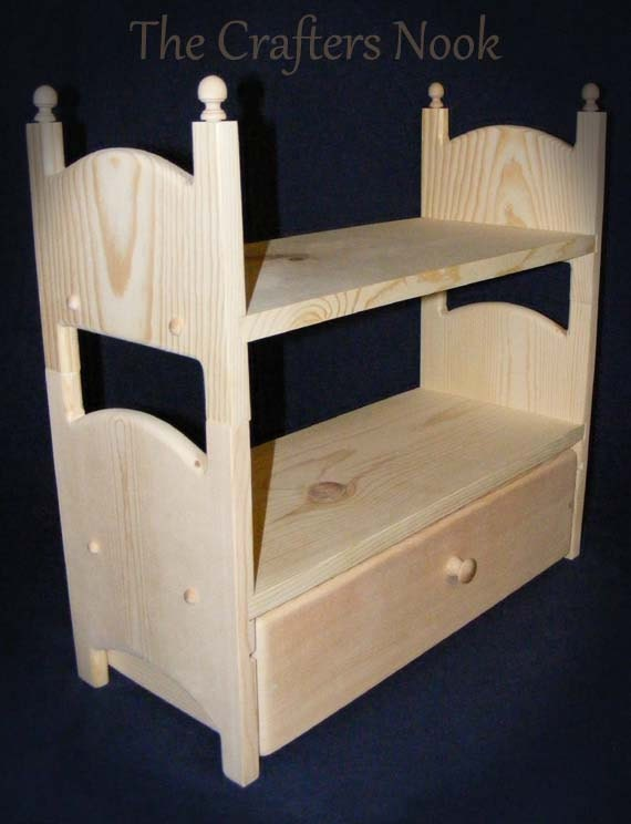 Stackable Doll Bunk Bed with Trundle Drawer by Acraftersnook