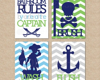Bathroom Signs Kids SignsPirate Prints Rules