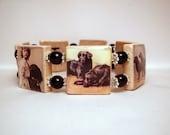 Flat Coated Retriever SCRABBLE Bracelet / Dog Lover Gift / Handmade Jewelry / Flatcoat - 2