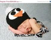Penguin Handmade Crochet Hat  Newborn    -5 years old