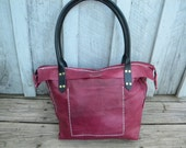 Handmade Leather purse, Leather bag, Leather shoulder bag with zipper