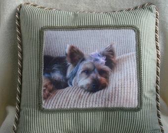 Custom Pet Photograph Pillow