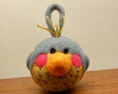 Baby's WOOLY Bluebird Rattle Made to Order