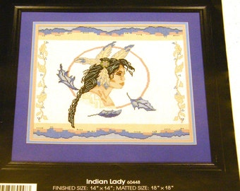 Indian Lady Cross Stitch Kit - Golden Bee 60448
