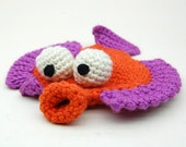 Crochet Flappy Flounder Amigurumi Plush Toy Pattern PDF Digital Download