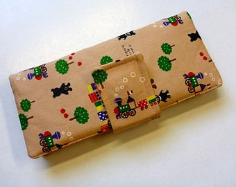 bibi checkbook bifold wallet - magnetic snap closure - cute wallet - kawaii - ready to ship - new design with more card pockets